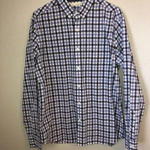 Hawker-Rye plaid button down shirt